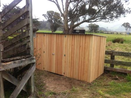 3.6m Macrocarpa Board and Batten Shed