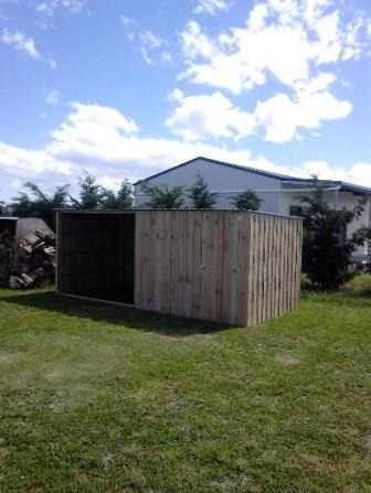 4.8m Custom built Wood Shed Combo